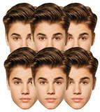 Justin Bieber Mask 6 pack Mask