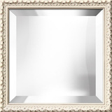 Hampton White Square Mirror Decorative Mirror
