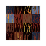Red Trees I Giclee Print by Gail Altschuler
