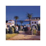 Mediterranean Morning Shadows II Giclee Print by David Short