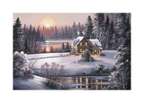 Winter Sunset Giclee Print by Dubravko Raos