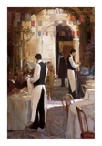 Two Waiters, Place des Vosges Giclee Print by Philip Craig