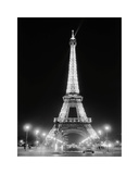Eiffel Tower at Night Giclee Print by Cyndi Schick