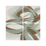 Mint Ripple Giclee Print by  Ahava