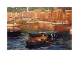 Anchored Boats, Portofino Giclee Print by Philip Craig