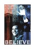 Obama: Believe Giclée-tryk af Keith Mallett
