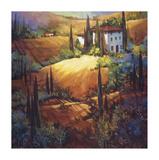 Morning Light Tuscany Giclée-tryk af Nancy O'toole