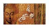 Buddha Panel I Gicléetryck av Keith Mallett