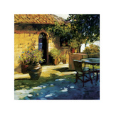 Courtyard Retreat Giclee Print by Philip Craig