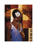 Jazz Cafe Giclee Print by Keith Mallett
