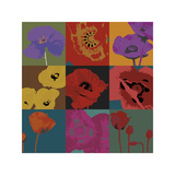 Pop Poppies Giclee Print by Don Li-Leger