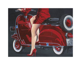 Woman in Red Giclee Print by Miguel Garigliano