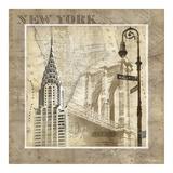 New York Serenade Giclée-tryk af Keith Mallett