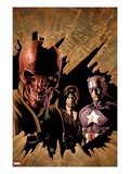 New Avengers No.12 Cover: Red Skull, Captain America, and Nick Fury Poster by Mike Deodato