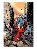 Captain America No.3 Cover: Punched Through the Street Prints by Steve MCNiven