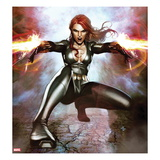 Secret Avengers No.15 Cover: Black Widow Crouching and Shooting Art by Adi Granov