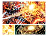 Avengers No.12.1: Panels with Thor and Ultron Fighting Prints by Bryan Hitch