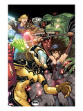 Avengers Academy No.28 Cover: Hazmat, Nico Minoru, Old Lace, and Chase Stein Posters by David LaFuente