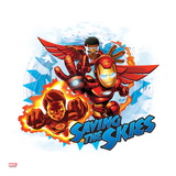 Marvel Super Hero Squad: Saving the Skies - Falcon, Human Torch, and Iron Man Flying Prints