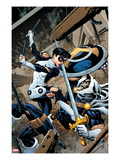 Avengers Academy 9 Cover: Finesse and Task Master Fighting Prints by Mike McKone