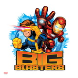 Marvel Super Hero Squad: Big Blasters - Cyclops and Iron Man Shooting Prints