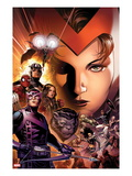 Avengers: The Childrens Crusade No.6 Cover: Scarlet Witch, Hawkeye, Beast, Spider-Man, and Others Prints by Jim Cheung