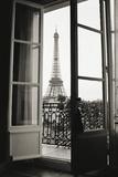 Christian Peacock - Eiffel Tower through French Doors Plakát