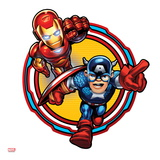 Marvel Super Hero Squad: Captain America and Iron Man Charging Posters