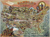 Rambles through our Country Print by  Vintage Reproduction