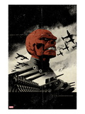 Red Skull No.3 Cover: Redskull Portrait Amidst Tanks and Planes Prints by David Aja