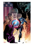 Captain America: Forever Allies No.2 Cover: Captain America Running Prints by Lee Weeks