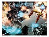 Iron Man: Rapture No.3: War Machine and Iron Man Shooting Poster by Lan Medina