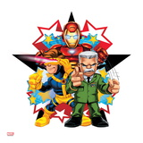 Marvel Super Hero Squad: Iron Man, Cyclops, and Thunderbolt Ross Posing Prints