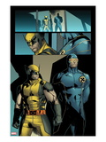 X-Men: Prelude To Schism No.4: Panles with Wolverine and Cyclops Standing Art by Clay Mann
