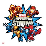 Marvel Super Hero Squad: Thor, Hulk, Cyclops, Iron Man, and Wolverine Jumping Poster