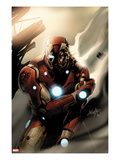 Invincible Iron Man No.33 Cover: Iron Man Standing Prints by Salvador Larroca