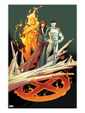 Ultimate Fallout No.3 Cover: Kitty Pryde, Human Torch, and Iceman Art by Andy Kubert