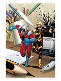Ant-Man & Wasp No.1 Cover: Ant-Man and Wasp Running Prints by Salvador Espin