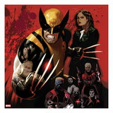 Fear Itself: Wolverine 1 Cover: Wolverine Posing Prints by Daniel Acuna