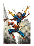Marvel Adventures Spider-Man 16 Cover: Spider-Man and Dr.Strange in the City Sky Posters by Ale Garza