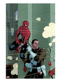 Spectacular Spider-Man 1000 Cover: Spider-Man and Punisher Print by Paolo Rivera