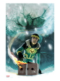 Journey Into Mystery No.632 Cover: Loki Kneeling over a Burning Box Posters by Stephanie Hans