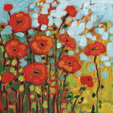 Red Poppy Field Lámina por Jennifer Lommers