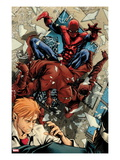 Avenging Spider-Man No.6: Spider-Man Fighting Print by Marco Checchetto