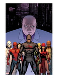 Shadowland 2 Cover: Daredevil, Spider-Man, Elektra, Iron Fist, White Tiger, Moon Knight, Kingpin Posters by John Cassaday