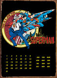 Superman Transform Calendar Blechschild