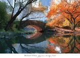Gapstow Bridge, Fall Poster by Michael Chen