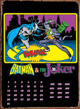 Batman &amp; The Joker Calendar Plaque en m&#233;tal