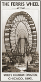 The Ferris Wheel, 1893 Affischer