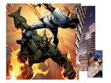 Ultimate Spider-Man No.157: Panels with Green Goblin Fighting and Flaming Prints by Mark Bagley